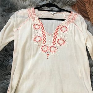 Join embroidered top